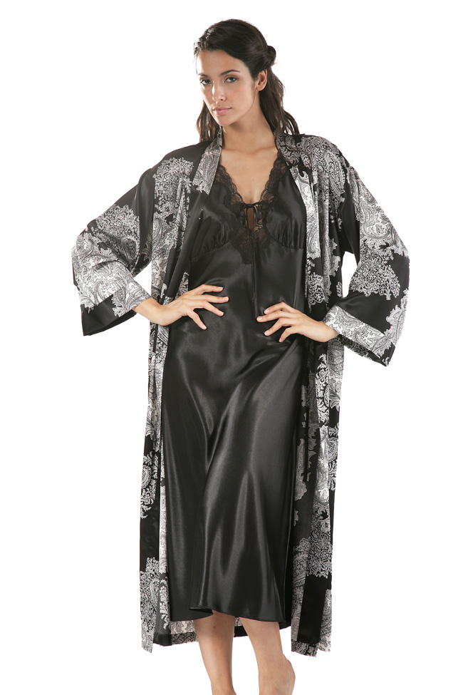 fabrics sleepwear black